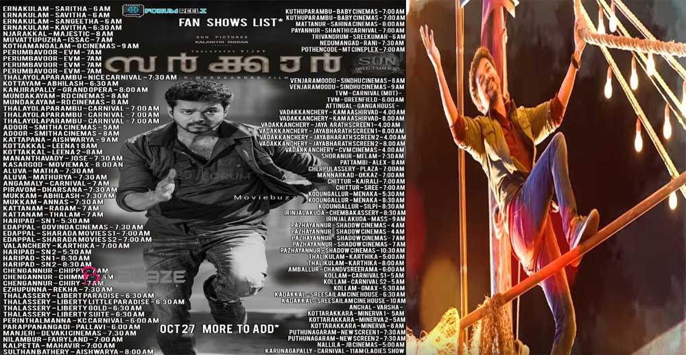 sarkar kerala theater list latest