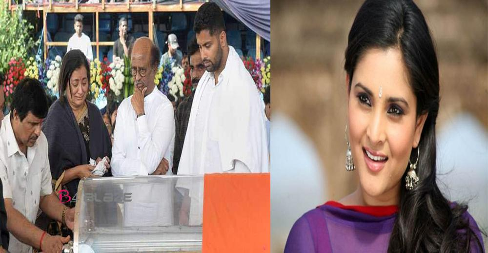 why ramya couldn't attent ambareesh's Funeral