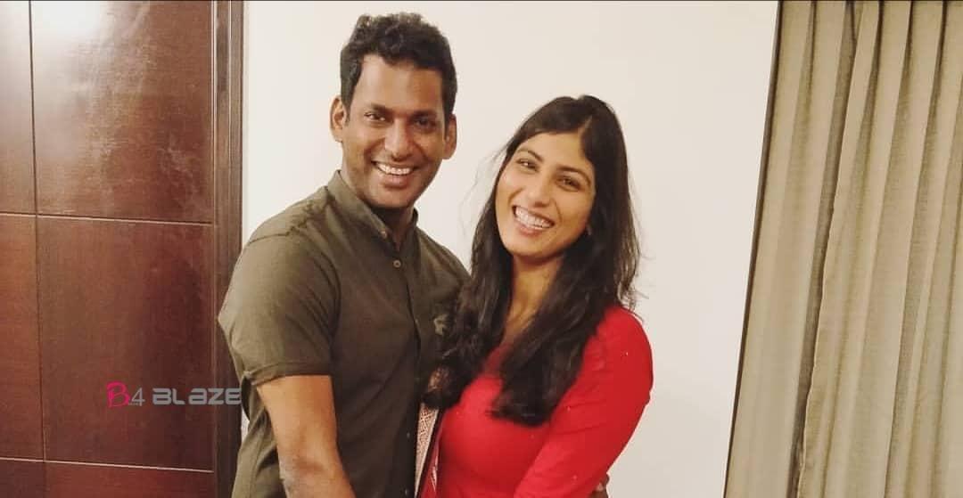 vishal and his wife