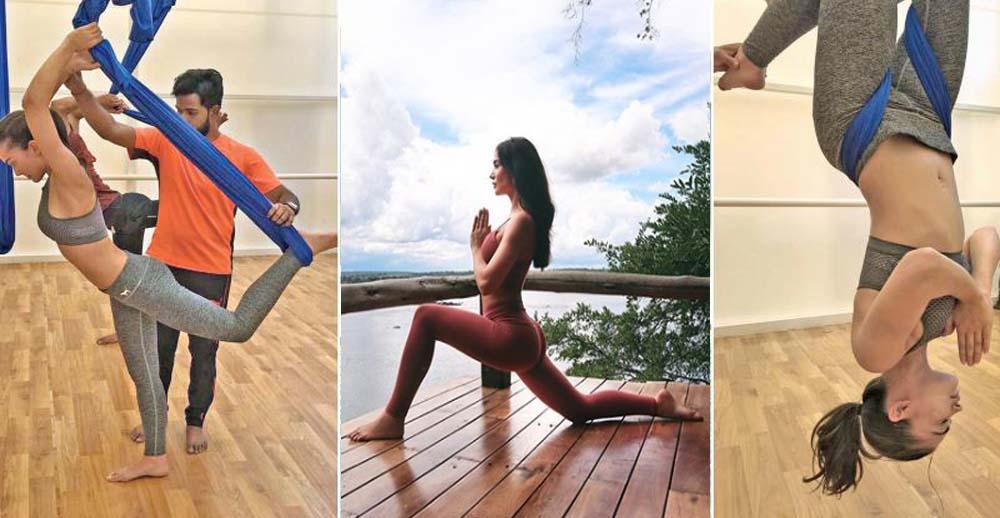 Amy Jackson's Latest Yoga Practicing Photos goes Viral