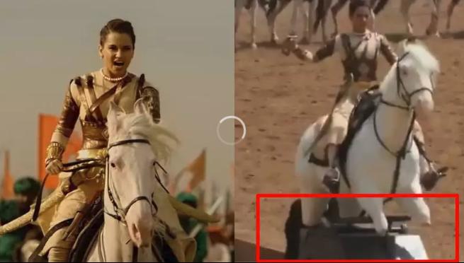 Kangana Ranaut video of riding an electric horse for 'Manikarnika' goes viral