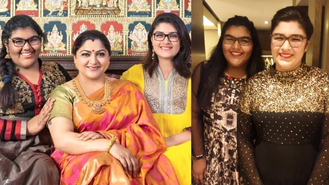 kushboo with daughters