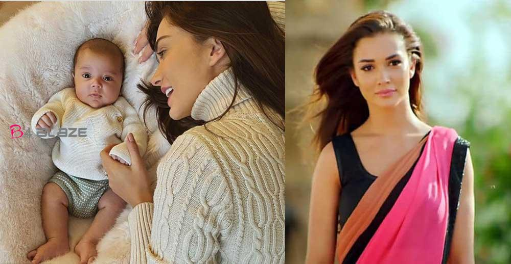 Amy Jackson has shared few adorable pictures of her newborn son