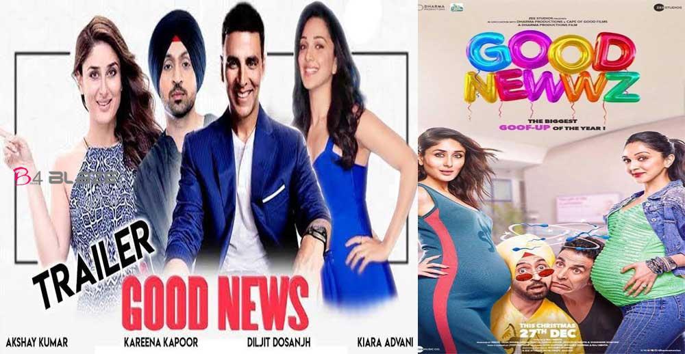Akshay Kumar's new movie Good Newwz's trailer out today..
