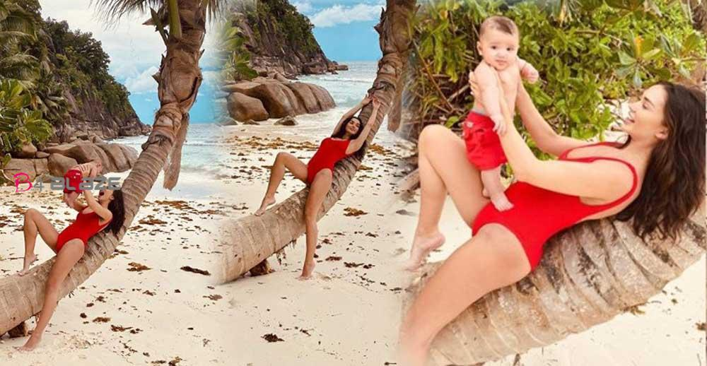 Amy-Jackson's-Latest-beach-