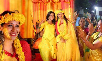 Sowbhagya Venkitesh Haldi Photos and Video