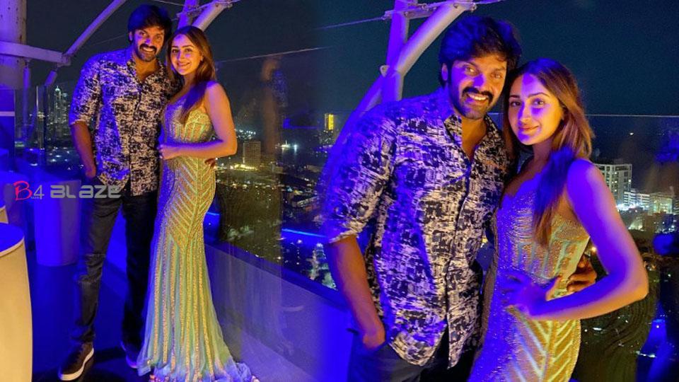 Arya - Sayyeshaa's first wedding anniversary celebration photos