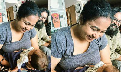 Radhika and Sarathkumar spent sweet time with grand Children