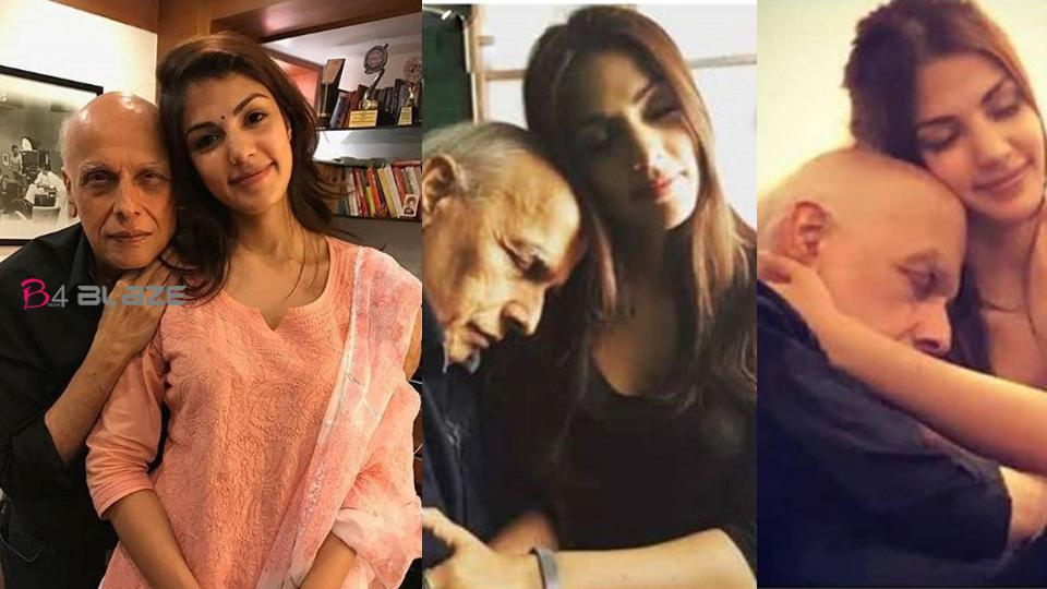 Old pictures of Rhea Chakraborty and Mahesh Bhatt are becoming viral on social media after the death of Sushant Singh Rajput