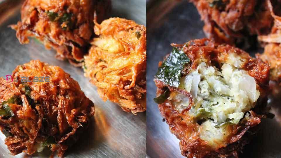 How to make crispy onion dumplings in the rainy season!