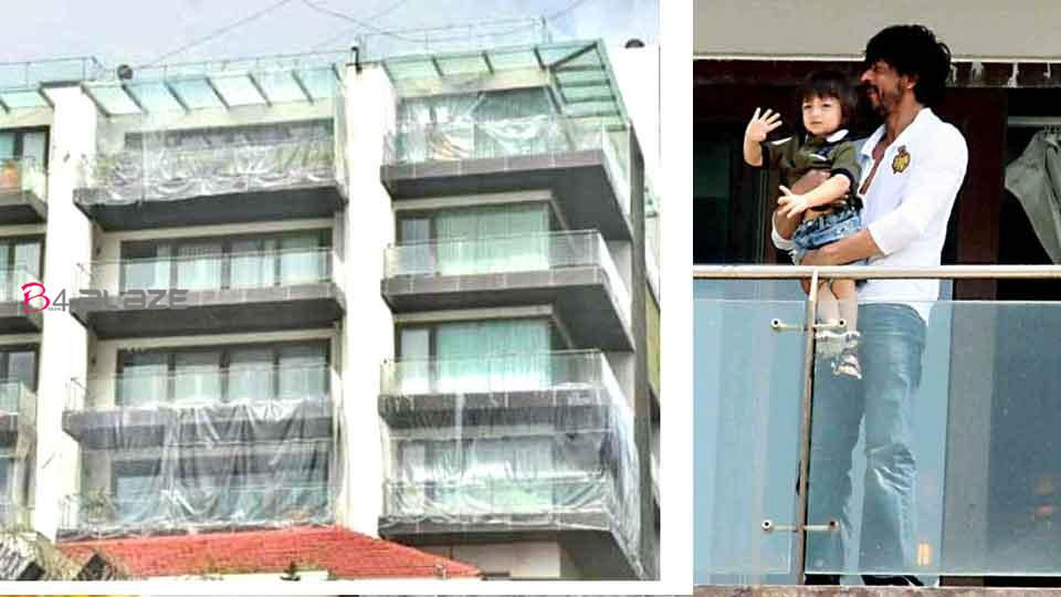 Shah Rukh Khan's house covered in plastic for fear of Covid Here is the interesting reason!