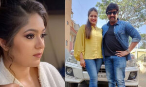 Meghana Raj with Cheeru
