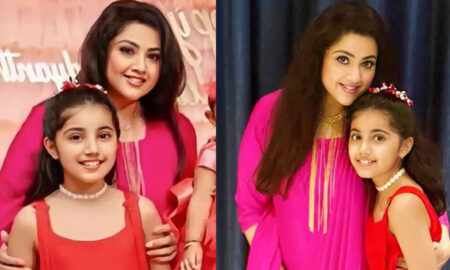 Meena with daughter new photos