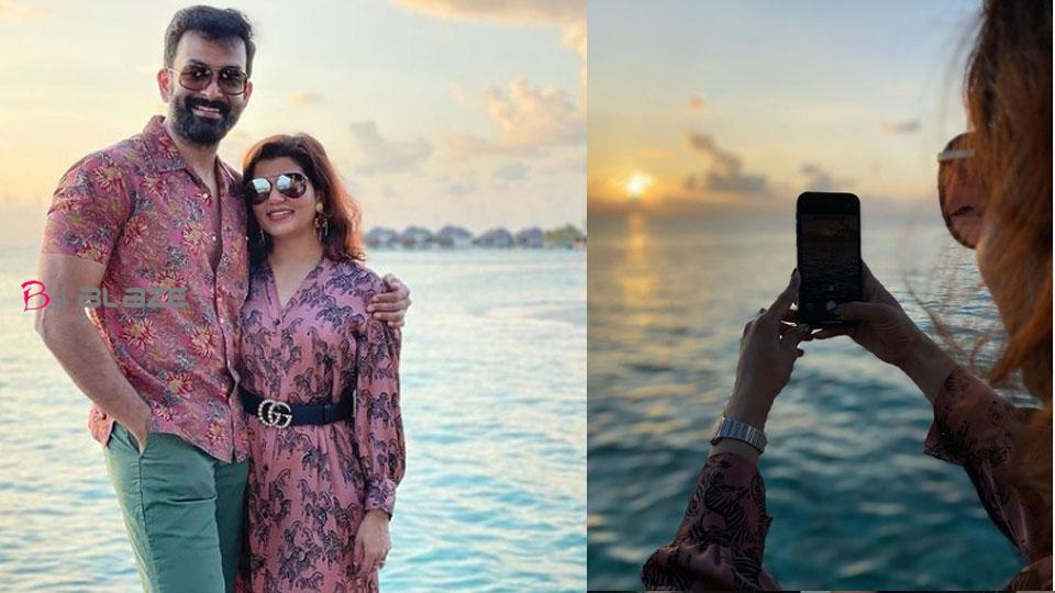prithviraj and family in maldives