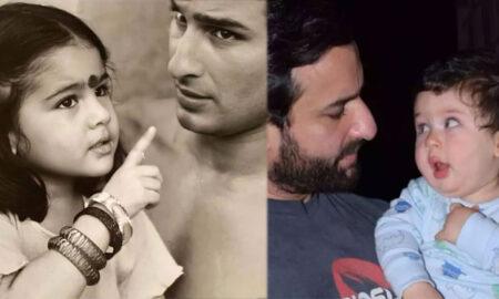 Sara shared photos with her father Saif Ali Khan.