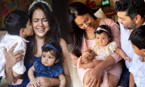 sameera reddy and family