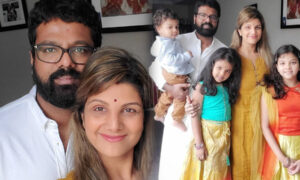Rambha shared the new happiness and pictures with husband