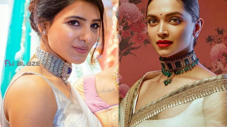 samantha-and-dipika-Love-for-sarees-and-choker