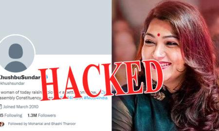 Kushboo's Twitter account hacked
