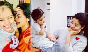 Shilpa Bala with daughter Yamika