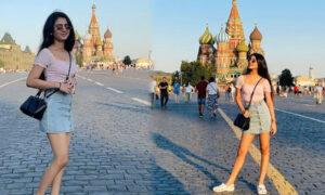 priya prakash varrier in moscow russiapriya prakash varrier in moscow russia