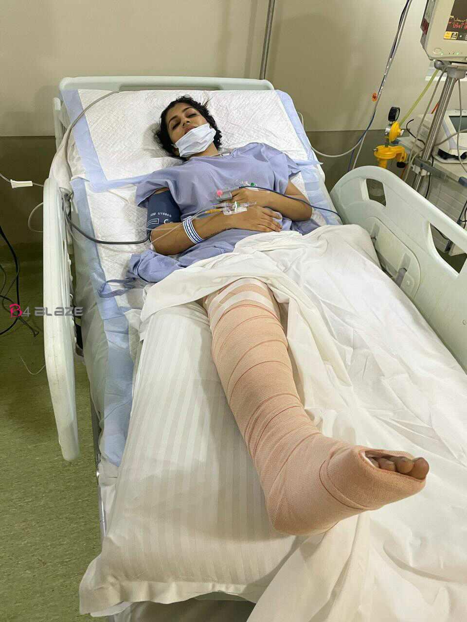Yashika anand in hospital