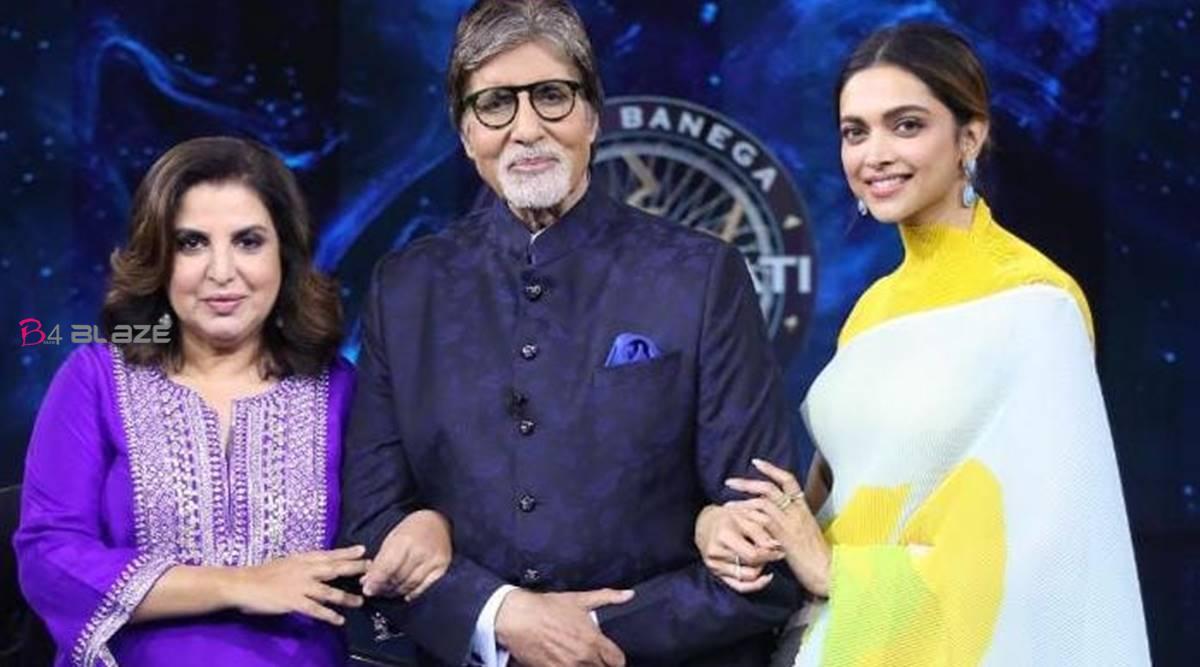 Amitabh Bachchan,Deepika Padukone with Farah Khan