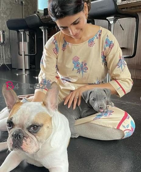 Samantha with dog