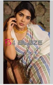 Samyukta Menon in Rainbow based saree