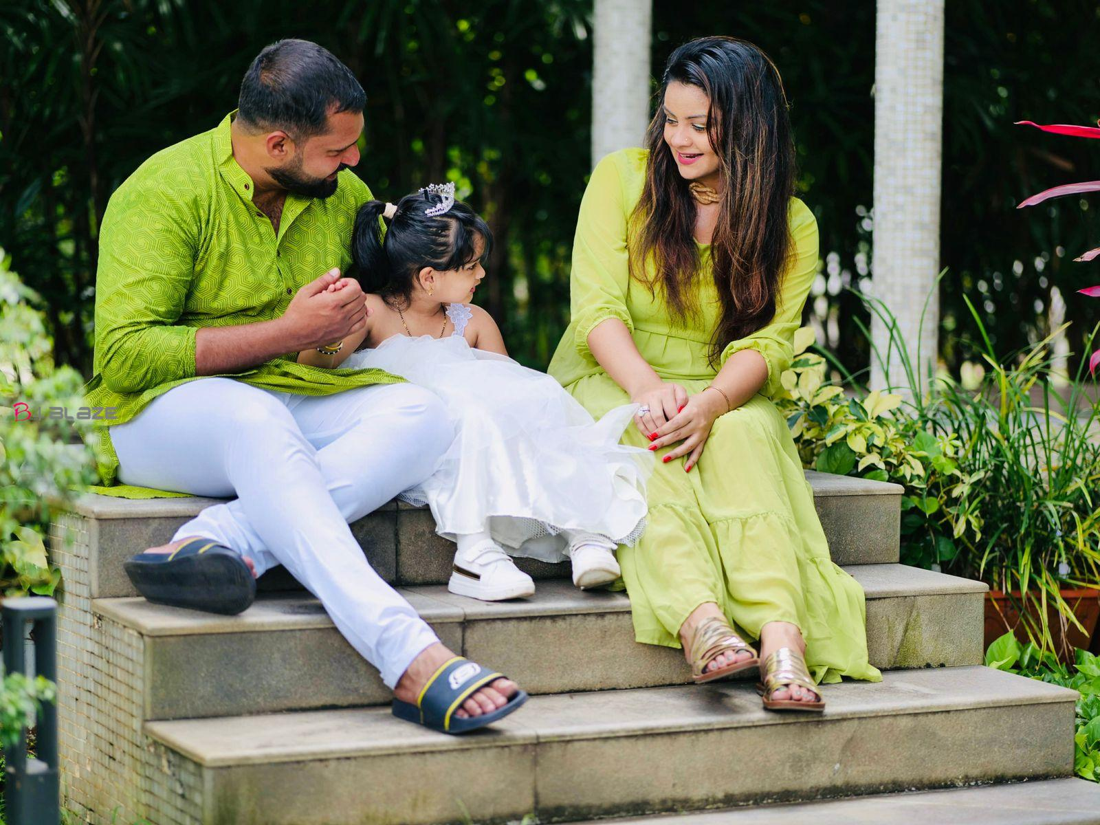 Shilpa Bala ,Vishnu her husband and daughter Yamika